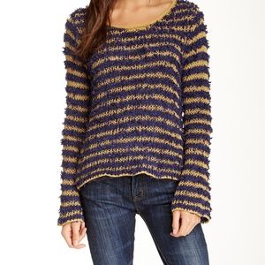 Free People | Downy Striped Knit Pullover